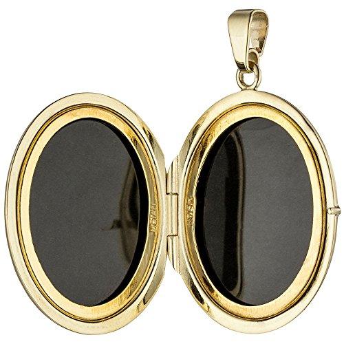 Médaillon pendentif amulette ouverture en or jaune 585 partiellement dépoli