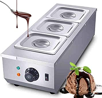 Huanyu Commercial Chocolate Tempering Machine 1500w 3080 Chocolate Melter With 3 3l Pots 3 Cylinders Auto Temp Control Hot Chocolate Heating