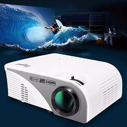 Portable projector elegiant lcd 1200 lumens led mini for Best mini projector for ipad