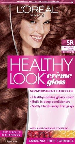 L'Oreal Paris Healthy Look Creme Gloss Color, Medium Red ...