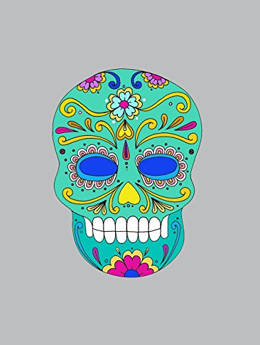 Mexican sugar Skull Decal Day of the Dead POSTER print Halloween wall art A3 -