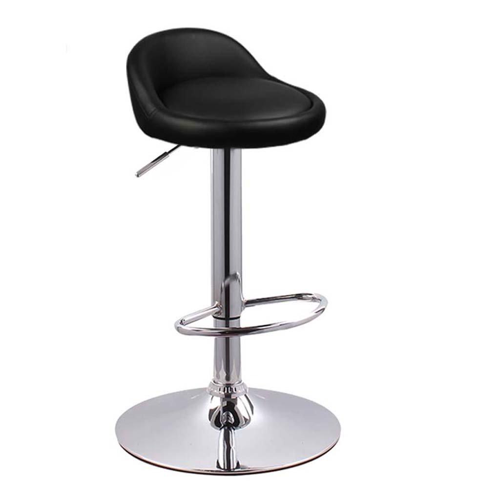 Black WFFXLL Lift Bar Chair high Chair Home European High Chair Bar Stool (color   orange)