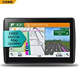 Car GPS Navigation, 7-inch HD touch screen&xpandable 32g memory, Voice broadcast navigation system, 256MB Memory, including multi-function car charger - Lifetime Map update