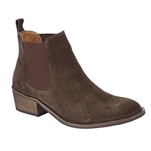 Cipriata Womens/Ladies Sabrina Twin Gusset Ankle Boot Dark Brown ZQSztV5o