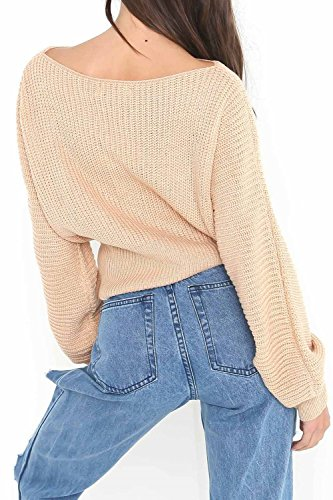 Womens Long Sleeve Pure Slim Venda Mantener Cintura Sweater