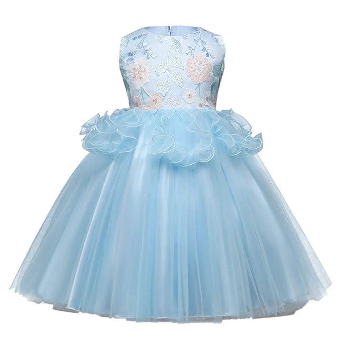 K-youth Vestido para Niñas, 2018 Vestido de Princesa para Niña Encaje Floral Vestido