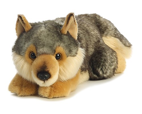 Aurora World Miyoni Lying Wolf Plush