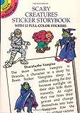 Scary Creatures Sticker Storybook, Cathy Beylon, 0486297217