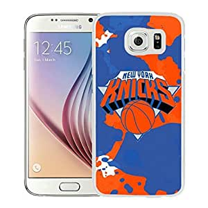 New Custom Design Cover Case For Samsung Galaxy S6 New York Knicks 1 White Phone Case