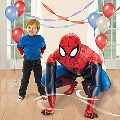 Disney Marvels Spiderman Birthday Party Balloon 36 Inches Foil Balloon Air Walker: Toys & Games
