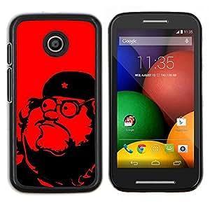 Caucho caso de Shell duro de la cubierta de accesorios de protección BY RAYDREAMMM - Motorola Moto E - Líder comunismo Estrella Roja