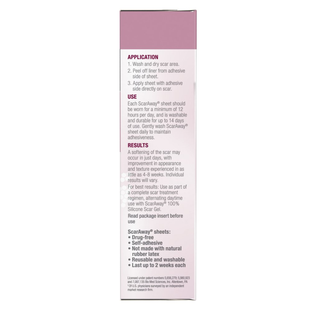 ScarAway C-Section Scar Treatment Strips, Silicone Adhesive Soft Fabric 4-Sheets (7 X 1.5 Inch) by ScarAway (Image #6)