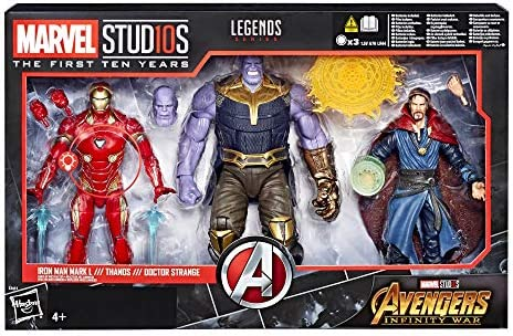 Hasbro accion Marvel Pack 3 Figuras Thanos & Iron Man & Dr Strange ...