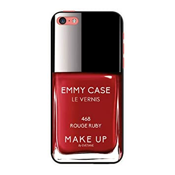 EVETANE Coque Vernis rouge iPhone dp BOALMU