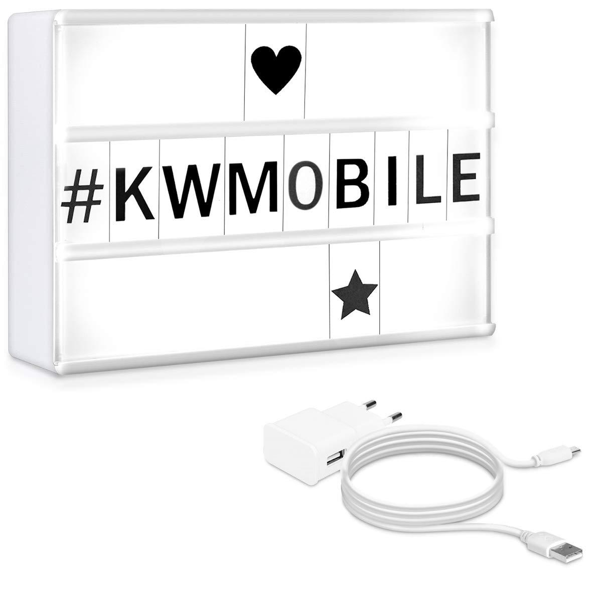 kwmobile Lightbox 7 colori scatola luminosa - Light Box A6 LED magnetico 126 lettere nere numeri simboli con funzione cambia colore - USB o batteria KW-Commerce 44815.02.01_m001247