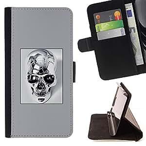 Momo Phone Case / Flip Funda de Cuero Case Cover - Cráneo del cromo - LG G4 Stylus H540