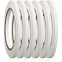 """6 Rolls 1/4"""" x 22.9 Yards Double-Sided Adhesive Tape For Arts, Crafts, Photography, Scrapbooking, Card Making, Gift Wrapping & Office School Stationery Supplies"""