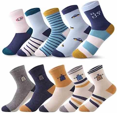 1ef288b3190a storeofbaby Toddler Kids Boys Girls Socks 10 Pairs Fun Novelty Fashion  Cotton Crew Dress Socks