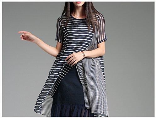 Cotylédons 2018 Nouveau Costume Manches Courtes Soie Imprimée Longue Robe Plissée Robes De Bande De Mode Scoop Cou Pour Le Noir Printemps Été