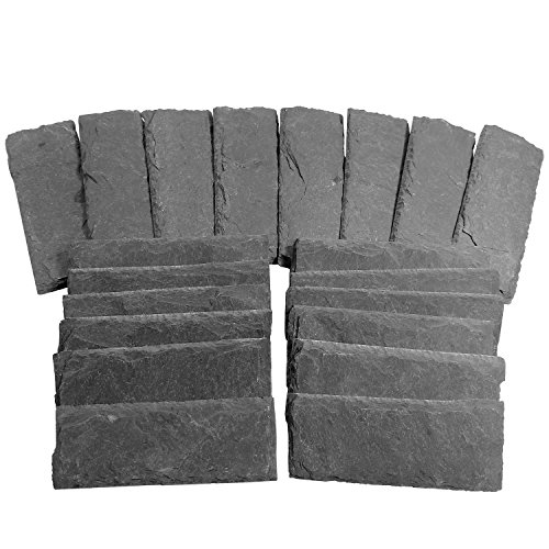 Cohas Slate Wedding and Event Place Cards includes 20 Small 2 by 5 Inch Slate Pieces, Refill Kit, No Marker