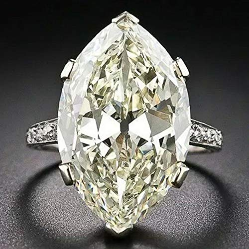 Dokis Huge White Topaz Alexandrite 925 Silver Jewelry Wedding Engagement Ring Size6-10 | Model RNG - 16786 | 6