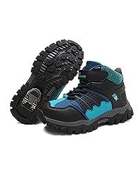 Yu Li Girls Boys Snow Boots Kids Hiking Shoes Comfortable Outdoor Winter Sneaker Antiskid Steel Buckle Sole (Big Kids)