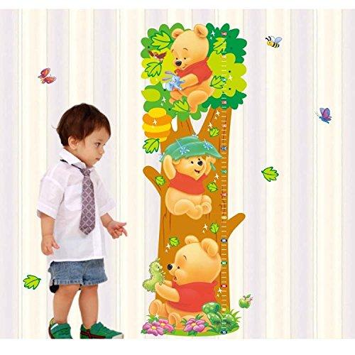 Wall Sticker Decal Winnie the Pooh Height Measurement Kids Bedroom (Bear Tree Decoration)