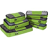 eBags Classic Packing Cubes for Travel 6pc Value Set (Grasshopper)