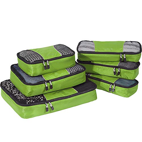 - eBags Classic Packing Cubes for Travel - 6pc Value Set - (Grasshopper)