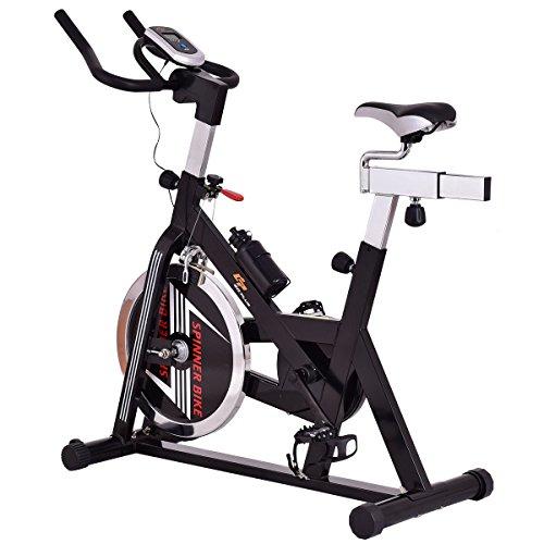 Goplus Adjustable Exercise Bike 40lb Flywheel Stationary Bike Indoor Cycle Bike Workout Fitness Equipment W/ Workout Goal Setting Computer by Goplus (Image #2)