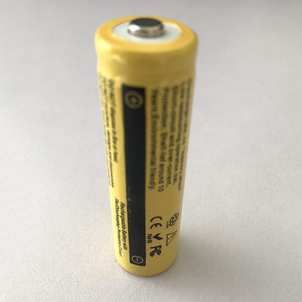 6 x 3.7V 18650 9800mAh Li-Ion Akku f/ür Taschenlampe LED RC