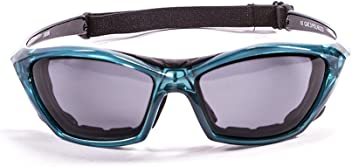 34cdd592d95 OceanGlasses - lake garda - Polarized Sunglasses - Frame   Transparent Blue  - Lens  Smoked