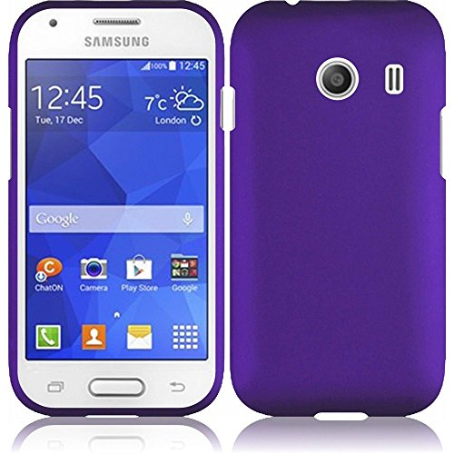 Cover Ace (Wydan Case for Samsung Galaxy Ace Style S765C Stardust s766c - Rubberized 2-Piece Snap On Hard Case Cover - Purple)