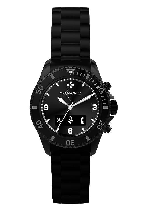 MyKronoz ZeClock - Reloj inteligente, color negro