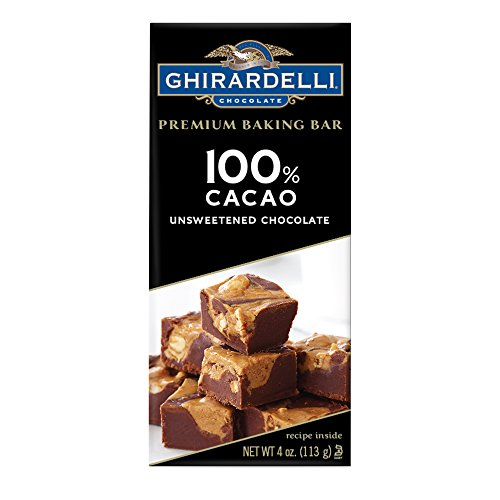 Ghirardelli Premium Baking Bar, Unsweetened Chocolate, 4 Ounce (Pack of - Baking Bar