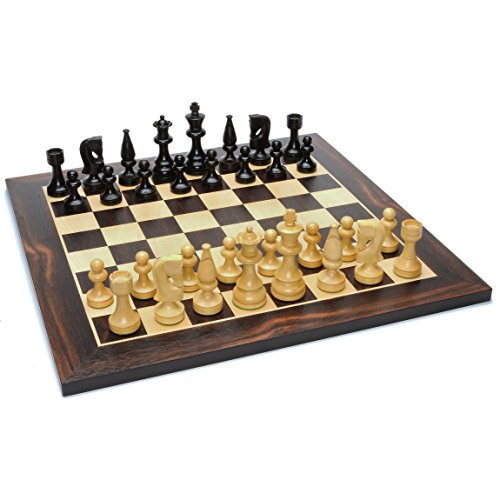 WE Games Grand Russian Style Chess Set - Weighted Pieces & Black Stained Wood Board 19