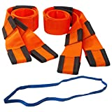 Forearm Forklift L74995CNFRB Lifting & Moving Straps with Free Mover's Rubber Band, Orange