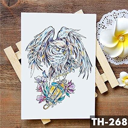 HXMAN 5 Unids Geométrico Encaje Flores Impermeables Tatuaje ...