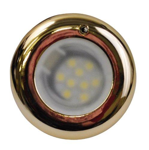 SeaSense Brass Plated LED Flush Mount Accent Light 3-Inch