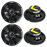 4) Kicker 41DSC674 D-Series 6.75'' 480W 2-Way 4-Ohm Car Audio Coaxial Speakers