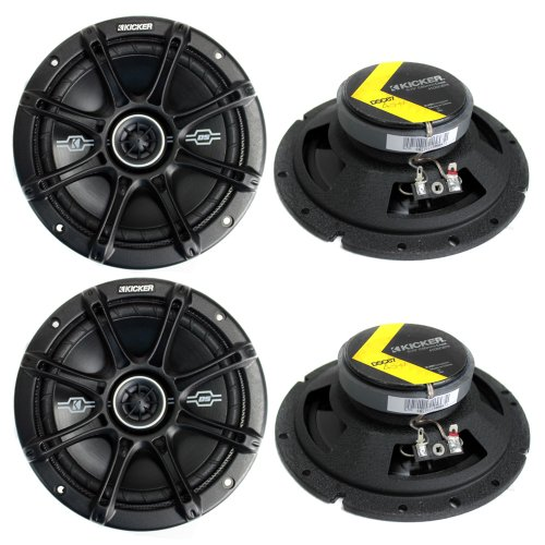 "4) Kicker 41DSC674 D-Series 6.75"" 480W 2-Way 4-Ohm Car Audio"