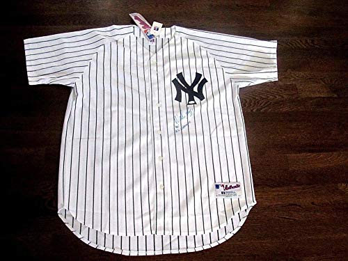 (Wade Boggs 1996 Ws Champs Yankees Autographed Signed Auto Russell Field Pro Jersey (Size XL) Steiner)