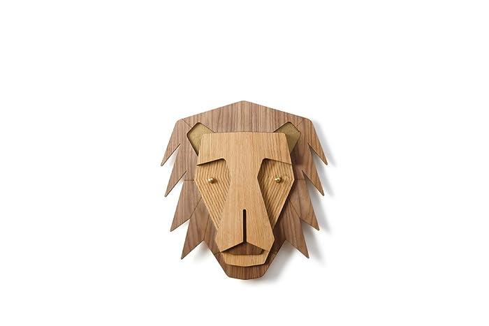 Amazon Com Wooden Lion Head Woodland Kids Room Decor Wood Wall