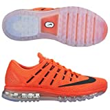 Nike Men's Nike Air Max 2016 University Red, Bright Mango and Black Running Shoes - 7 UK/India (41 EU)(8 US)