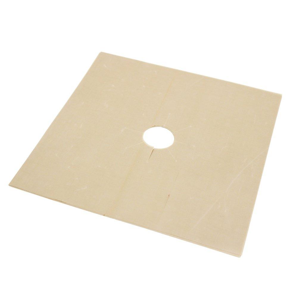 Loveble Lot de 4 protections pour gazinière en fibre de verre couvertures de protection Passe au lave-vaisselle cuisinière Brûleur à réchaud de sacs réutilisable