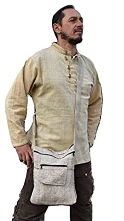 b374eca02c76 Dress for Earth Hemp Hoodie Handwoven Shirt Hemp Shirt Hemp Men Hemp Baja  Burning Man (