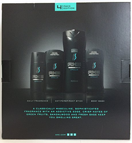 Axe For Men Gift Set - 2016 Collection - Apollo - Gift Set Includes: 1x Daily Fragrance, 2x Antiperspirant, & 1x Body Wash - One Gift Set