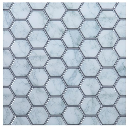 - Truu Design Hexagon Peel and Stick Wall Tile, 10 x 10 inches Light Blue, 6 Pieces