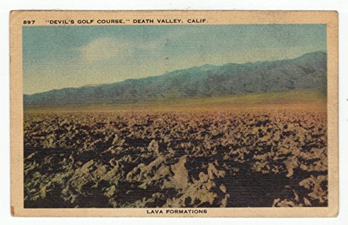 Devil's Golf Course, Death Valley, California Vintage Original Postcard #2754 - May 7, - Valley Plaza