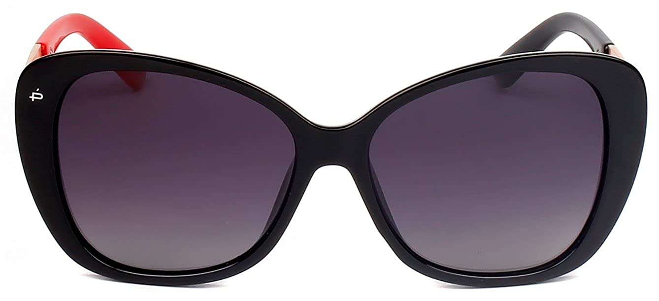 "88283beb2b Amazon.com  PRIVÉ REVAUX ICON Collection ""The Jackie O."" Designer Polarized  Cat-Eye Sunglasses  Clothing"